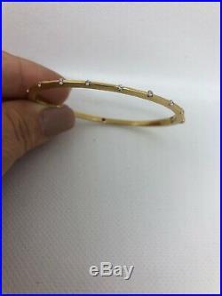 Roberto Coin Diamond 18K Yellow Gold Parisienne Ruby Signature Bracelet