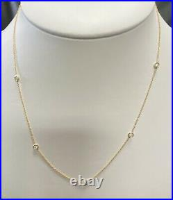 Roberto Coin Diamond & 18K Yellow Gold Station Necklace/18