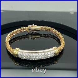 Roberto Coin Diamond 18K Yellow Gold Woven Silk Diamond Bracelet $7500