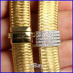Roberto Coin Diamond 18k Two-tone Primavera Weave Choker Necklace