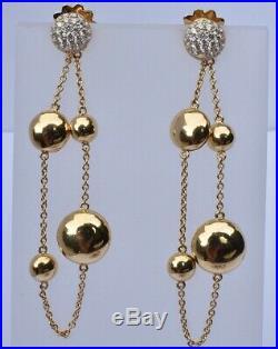 Roberto Coin Diamond Gold Disc Earrings 18k