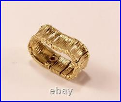 Roberto Coin Elephantino 18k Yellow Gold Wedding Flex Band Ring Sz 7/t54/uk-o