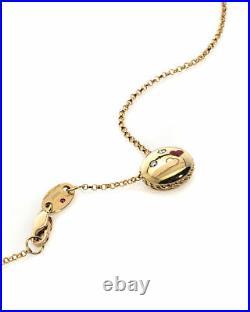 Roberto Coin Emoji 18k Yellow Gold Diamond(0.02ct Twd.)Necklace 7771796AY18X