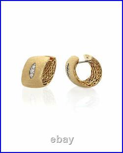 Roberto Coin Golden Gate 18k Yellow Gold Diamond 0.1ct Earrings 7771241AYERX1