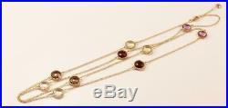 Roberto Coin Ipanema 18k Gold Gemstone 10-station Necklace Pendant, 39 Long