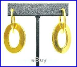 Roberto Coin Large Flat Double Hoop Earrings in 18K Yellow Gold