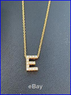 Roberto Coin Love letter Diamond Initial E Necklace In 18KT Yellow gold
