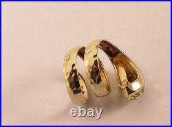 Roberto Coin Martellato 18k Yellow Gold Lemon Quartz Snake Coil Ring Size 7.5