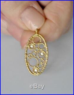 Roberto Coin Pendant Necklace 18K Yellow Gold Diamonds $1380 New Sale