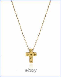 Roberto Coin Pois Moi 18k Yellow Gold Cross Necklace 7771288AYCH0