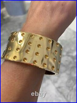 Roberto Coin Pois Moi 4 Row Diamond & 18k Yellow Gold Bangle Bracelet