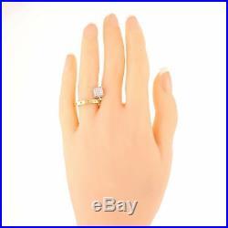 Roberto Coin Pois Moi Chiodo 18K Yellow White Gold. 25ctw Diamond Nail Ring A9