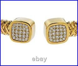 Roberto Coin Primavera Flex 18k Gold Diamond Bracelet