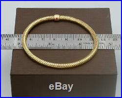Roberto Coin Primavera Flex Bracelet 18k with Original Box