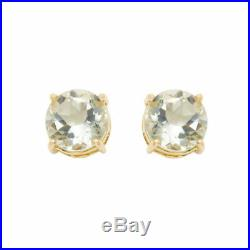 Roberto Coin Shanghai Green Amethyst Round Stud Earrings in 18K Yellow Gold