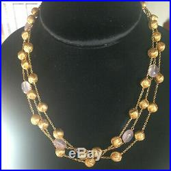 Roberto Coin Stunning Triple-Strand 18K Gold Necklace-No Reserve