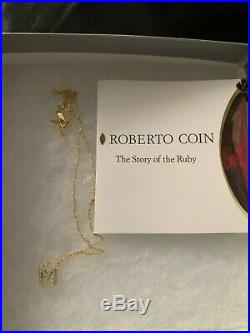 Roberto Coin Tiny Treasure 18k Gold Diamond Letter M Initial Necklace