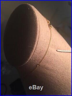 Roberto Coin Tiny Treasures Diamond Baby Cross Necklace 18k Yellow Gold