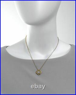 Roberto Coin Womens Pois Moi 18k Yellow Gold Pendant Necklace 777974AYCHMP
