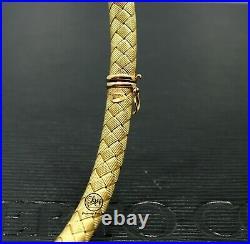 Roberto Coin Woven Silk 18k Yellow Gold 0.50ctw Diamond Choker Necklace Mint