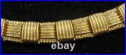 Roberto Coin heavy 18K YG 0.25CT VS1/F diamond necklace
