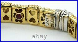 Roberto Coin heavy 18K yellow gold 0.25CT VS1/F diamond bracelet