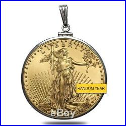 Sale Price 1 oz Gold American Eagle $50 Coin BU Random Year withSterling Silver