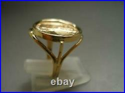 Size 6.5 Woman's 1/10 OZ 1997 U. S. Liberty Gold Coin in 14 Karat Gold Ring