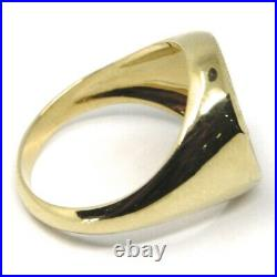 Solid 18k Yellow Gold Band Ring, Roman Coin, Roman Emperor, Made In Italy