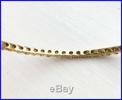 Stunning! $5700 Roberto Coin 18K Gold 1.35CT Champagne Diamond Bangle Bracelet