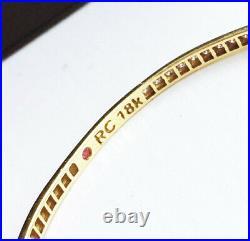 Stunning! $6900 ROBERTO COIN 18K Gold 2.06ct Diamond Classics Bangle Bracelet