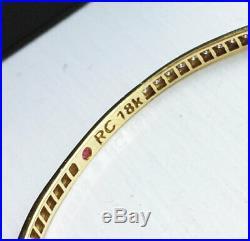 Stunning! $6900 ROBERTO COIN 18K Gold 2.06ct Diamond Eternity Bangle Bracelet