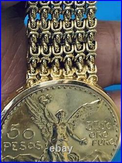 Vacheron Constantin Unique 50 Pesos Yellow Gold Coin Watch Marvellous (501)