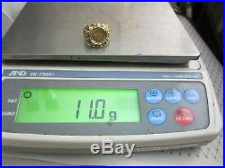 Very Nice Mens 14k Yellow Gold Mexico Dos Pesos Coin Ring (size 10.5) 11.0 G