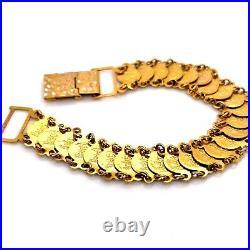 Vintage 18k Yellow Gold Liberty Head Coin Bracelet 14.2 Grams 7 13 MM