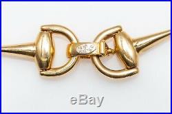 Vintage $3400 Roberto Coin 14k Yellow Gold HORSEBIT FANCY LINK Bracelet 8