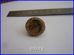 Vintage 9ct Gold Ring With Small St George Gold Qeii Silver Jubilee 1977 Coin T