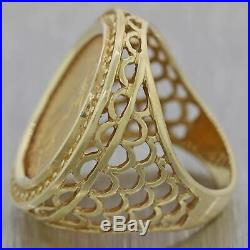 Vintage Estate 14k Yellow Gold 1/10th oz American Gold Eagle Coin Ring