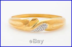 Vintage Roberto Coin $9000 1ct VS G Diamond 18k Yellow Gold Bangle Bracelet