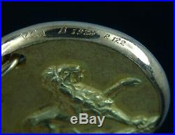 Vintage Solid 18k Gold Van Cleef & Arpels Leo Zodiac Coin Pendant