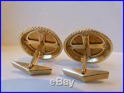 Vintage antique 1914 Liberty Indian Head $2.50 gold coin cufflinks eagle 14k 22g