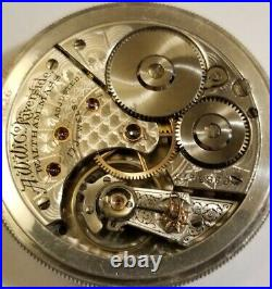 Waltham Riverside 16S. 17J. Adj. High Grade mint fancy dial coin silver case